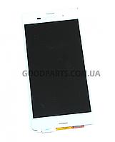 Дисплей с тачскрином для Sony Z3 D6603 белый (Оригинал)