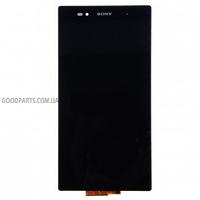 Дисплей с тачскрином для Sony C6802 XL39h Xperia Z Ultra, C6806, C6833 черный (Оригинал)