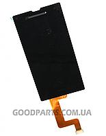 Дисплей с тачскрином для Sony D5102, D5103, D5106 Xperia T3 черный (Оригинал)
