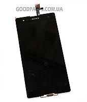 Дисплей с тачскрином для Sony D5322 Xperia T2 Ultra DS черный (Оригинал)