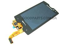 Дисплей с тачскрином для Sony Ericsson SK17i Xperia ACTIVE черный (Оригинал)