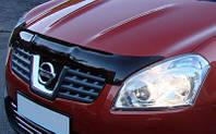 Дефлектор капота ( мухобойка )  Nissan Qashqai +2 2008-2010