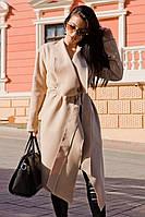 """Женское кашемировое пальто на запах """"Carrie"""" с поясом и карманами (2 цвета)"""