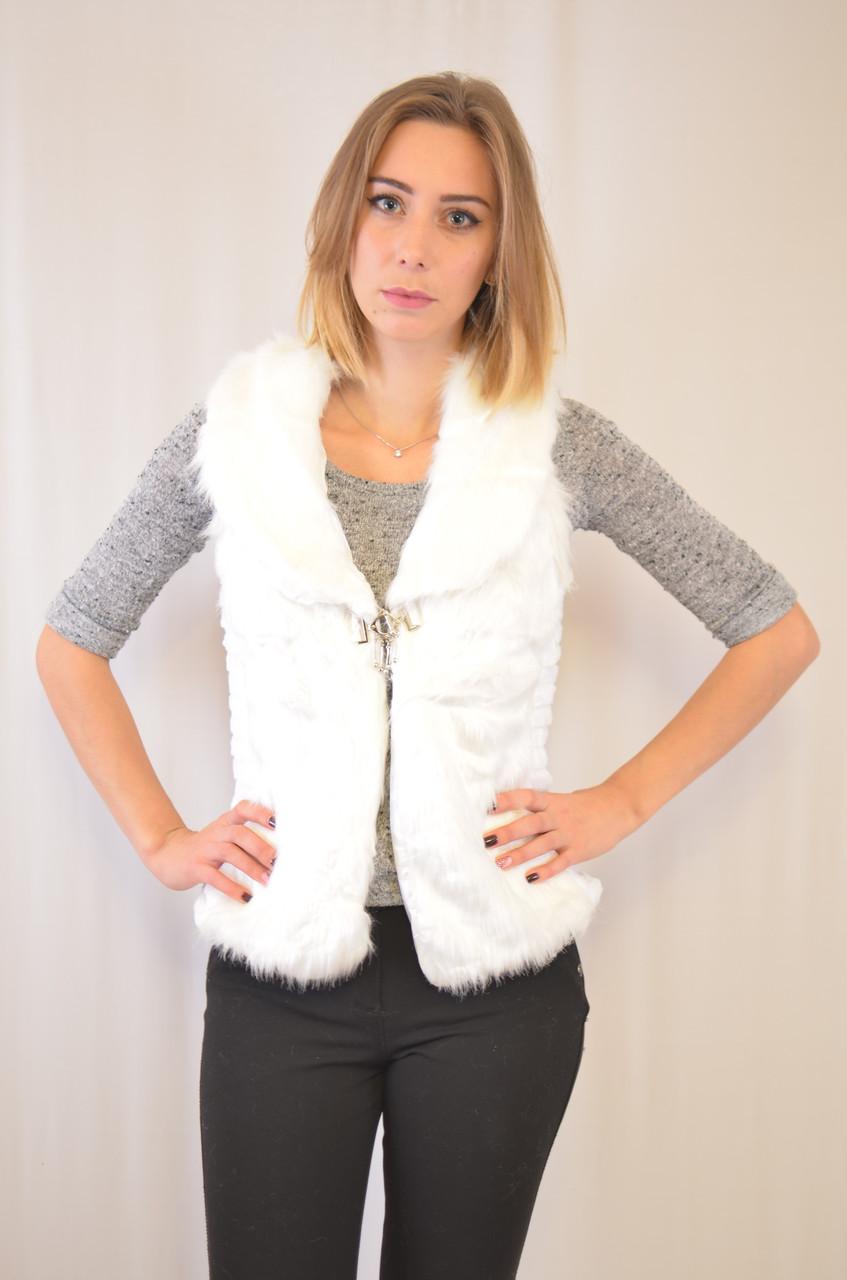 Красивая и элегантная меховая женская жилетка недорого.