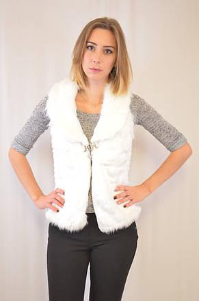 Красивая и элегантная меховая женская жилетка недорого., фото 2