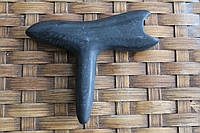 """Массажёр """"Гуаша""""- для точечного и общего массажа из черного нефрита Bianshi."""