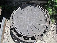 Люк канализационный чугунный для смотровых колодцев тип «Т» ( тяжелый )