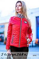Женская короткая куртка Весенняя красная, фото 1