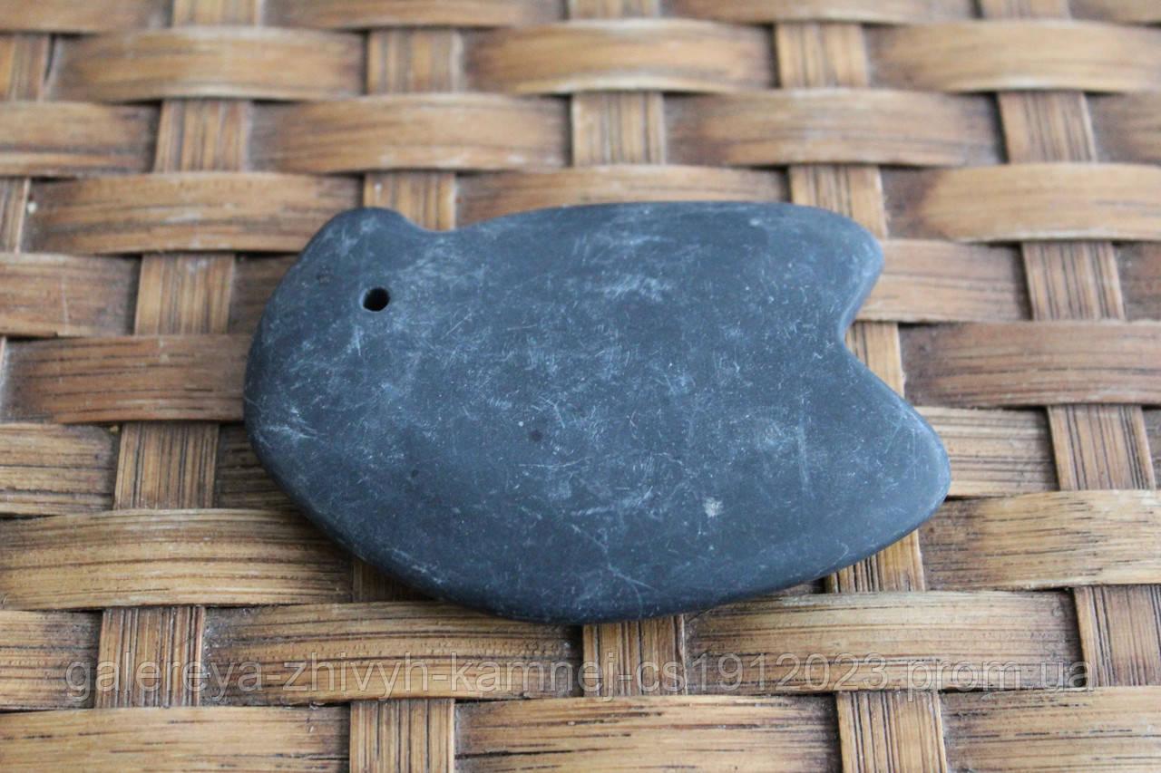 Массажер из черного нефрита Bianshi Носорог