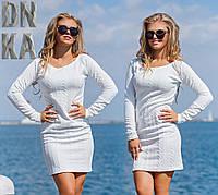 Модное  женское  платье косичка