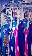 Зубная щетка жесткая  Dental Plus Hard  Special Brush System 2 шт