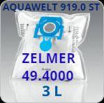 Одноразовые мешки пылесборники Zelmer 49.4000 zvca100b Safbag для пылесосов Aquawelt 919.0 и 7920, 01z014st