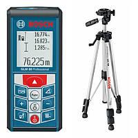 Лазерный дальномер Bosch GLM 80 + штатив BS150 Professional (06159940A1)