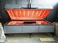 Печь для стекла гнутого (моллирования), камера 2800*1300 мм, б/у 2010 года