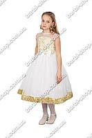 """Нарядное платье для девочки """"гипюр"""""""