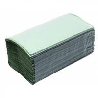 Полотенца бумажные листовые V-сл. зеленые,  180шт/уп