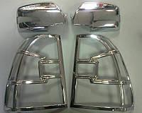 Хромированные накладки на стопы и зеркала Kia Sportage 2004-2009