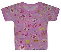 Ясельная футболка на кнопке 62/74