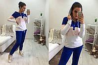 Костюм женский спортивный из двухнитки с капюшоном P1024, фото 1