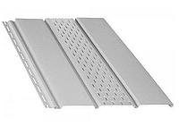 Панель софит BRYZA (сайдинг) белый с перфорацией и гладкий для подшивки свесов крыши.