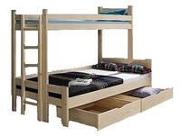 """Кровать двухярусная из натурального дерева """"Мира Семейная"""""""