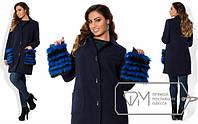 Пальто модель № X3565,размеры 48, 50, 52, 54 мех натуральный