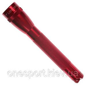 M2A03CR Ліхтарик AA, кишеньковий кліп, наручний шнурок, тримач.(червоний) Maglite (код 249-301968)