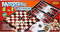 Настольная игра  Шахматы 9841 А 5 в 1 KHT