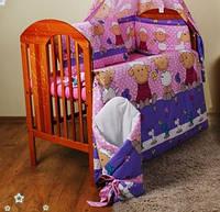 """Комплект детской постели из 8 ед -""""Барашки фиолет"""""""