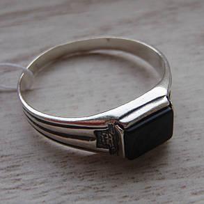 Серебряный мужской перстень с ониксом, фото 2