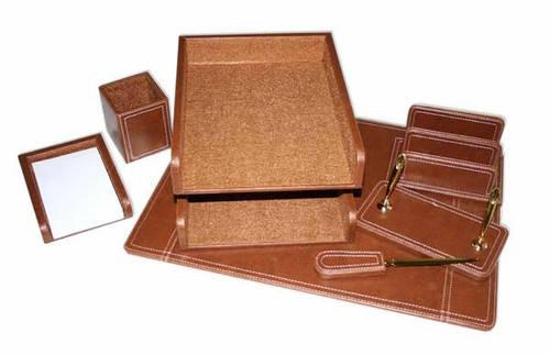 Набір настільний з дерева, 7 предметів, коричневий, фото 2