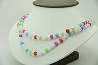 Бусы с разноцветными бусинками и кристаллами .167
