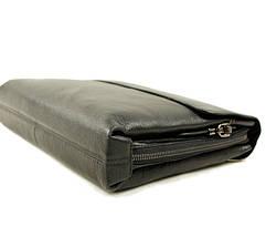 Деловая мужская кожаная сумка-папка под формат А4, фото 3