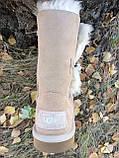 Натуральные женские угги( UGG Bailey Button Bling) (36,37,38,39), фото 3