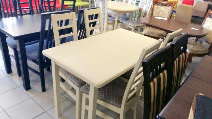 Стол обеденный раскладной   СИД  Fusion Furniture, цвет  бежевый и ваниль