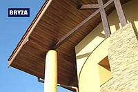 Панель софит BRYZA (сайдинг) орех с перфорацией и гладкий для подшивки свесов крыши.