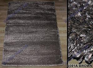 Высоковорсный ковер Супер 4S shaggy, однотонный, цвет коричневый