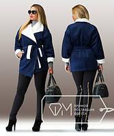 """Женское кашемировое пальто """"Бриджит"""" большого размера"""