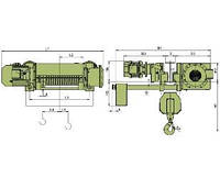 Тельферы взрывозащищенные Elmot серии VCVAT г/п 3,2т. (32000кг) (электрические тали ВБИ)  Болгария