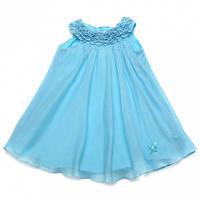 Нарядное платье со стразами, верх жабо,с бантиком, итальянский бренд Baby A