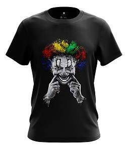 Мужская футболка с принтом Клоун