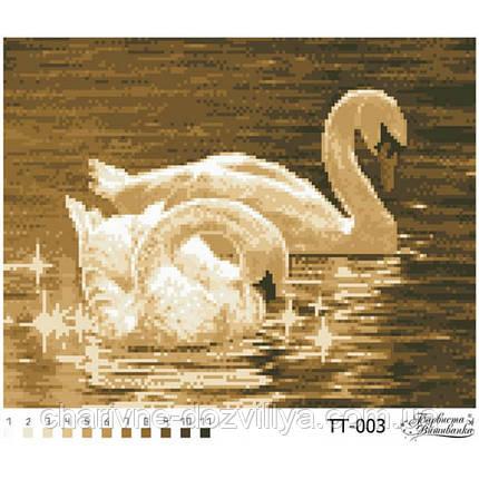 """Схема для вышивки бисером """"Пара лебедей"""", фото 2"""