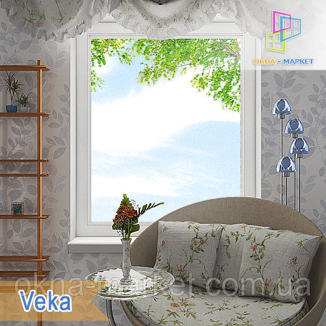 Цены на окна одностворчатые в профиле Veka, фирма Окна Маркет