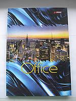 """Тетрадь А4 в твердом переплете 96л. """"Office book"""", линия,бумага офсет, белая"""