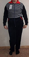 Женский велюровый костюм в полоску