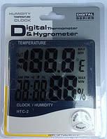 Влагомер для инкубатора (гигрометр) HTC-2 + термометр, часы