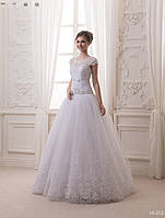 Свадебное платье с шикарной юбкой