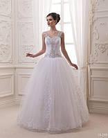 Восхитительное свадебное платье с пышной юбкой, фото 1
