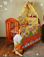 """Комплект постели для детей из 3-ед- """"Барашки на желтом фоне"""""""
