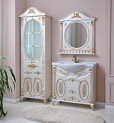 Комплект мебели Ольвия (Атолл) Наполеон-95 белый жемчуг патина золото